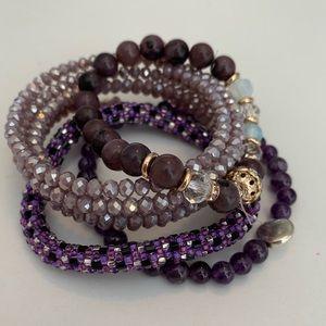 Purple Bracelet Stack (4)